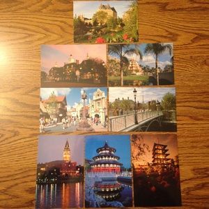 Vintage '80s Disney World Epcot Postcard Bundle 2